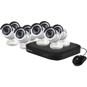 Swann SWDVK-8HD5MP8-US 8-Channel HD5MP Series 5.0-Megapixel DVR with 2TB HD & 8 Bullet Cameras
