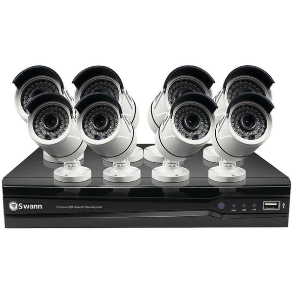 Swann SWNVK-874008-US 8-Channel 1080p NVR with 8 NHD-818(TM) Cameras