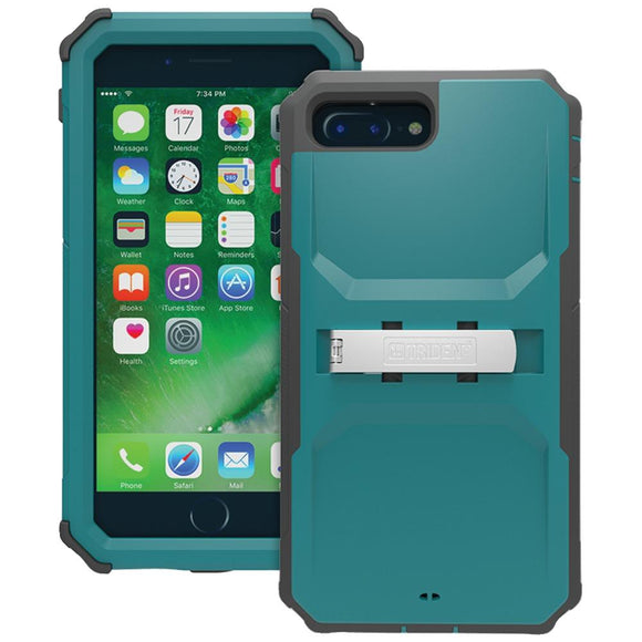 Trident(TM) Case KN-APIP7P-TL000 Kraken(R) A.M.S. Series Case with Holster for iPhone(R) 7 Plus (Teal)