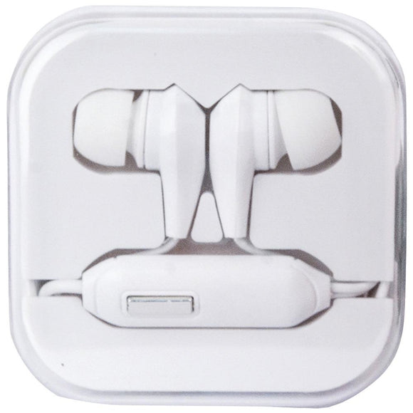 travelocity(R) TVOR-STHF-BW Stereo Earbuds with Microphone