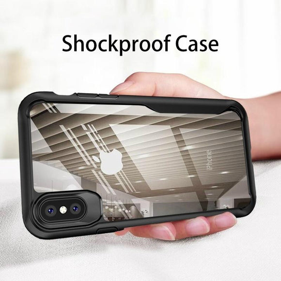 Shockproof Armor Case For iPhone XS XR 8 7 Plus Transparent Case Cover For iPhone 6 6S Plus 5 XS Max Luxury Silicone Case