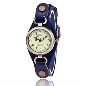 1 PC Brand Fashion Cow Leather Quartz Watches Women Casual Dress Wristwatches