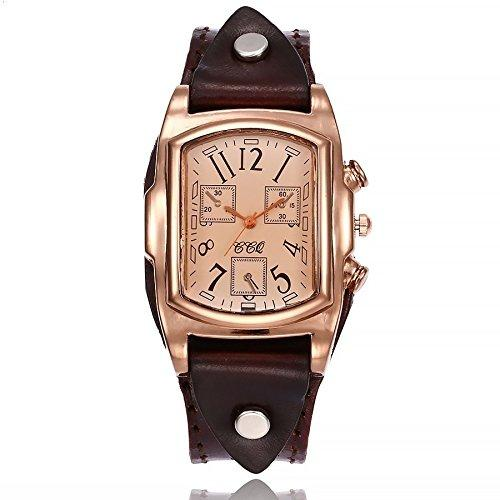 Brand Fashion Cow Leather Bracelet Watch Casual Women Sport Watch Luxury Quartz Watch