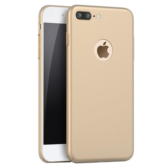 iPhone 7 Plus Case,SNOW WI - Smoothly Shield Skin Shockproof Ultra Scratch Resistant Whole body protection for Apple iphone 7 Plus Cover (5.5 inch) (Silky Gold)