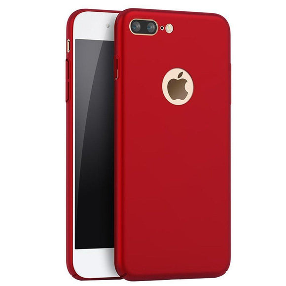 iPhone 7 Plus Case,SNOW WI - Smoothly Shield Skin Shockproof Ultra Scratch Resistant Whole body protection for Apple iphone 7 Plus Cover (5.5 inch) (Silky Red)