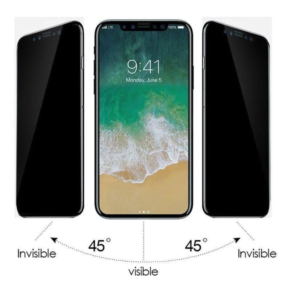 Anti-Spy Peeping Privacy Tempered Glass Screen Protector For iPhone 5s 6 / 6s / 6 Plus/ 6s Plus/ 7/ 7 Plus/ 8/ 8 Plus / iPhone X