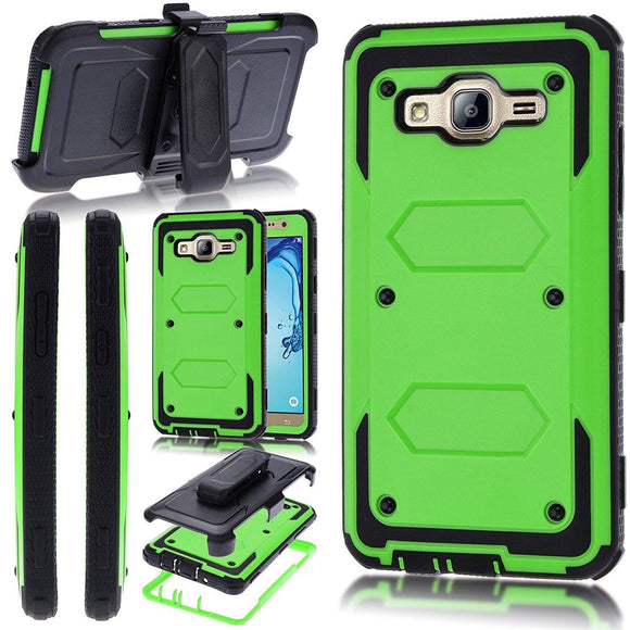 Shock Absorbing Hard Case With Belt Clip For Samsung Galaxy Express 3 / J1 2016 /Luna 4G/J7 2017/J7 Sky Pro/J3 2017