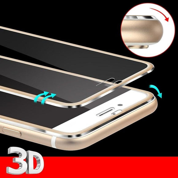 Aluminum Alloy Full Screen Tempered Glass Case For iPhone 5 5S 5C SE 6 Plus 6S Plus 7 7 Plus 6 6S 3D Edge Full Screen Cover For