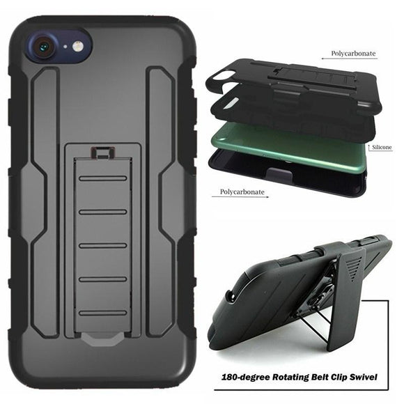 3 In 1 Rugged Shockproof Armor Case +Belt Clip Holster Kickstand Cover for IPhone 4 5 5S 6 6S 6Plus 7 7Plus 8 8Plus for IPhone X