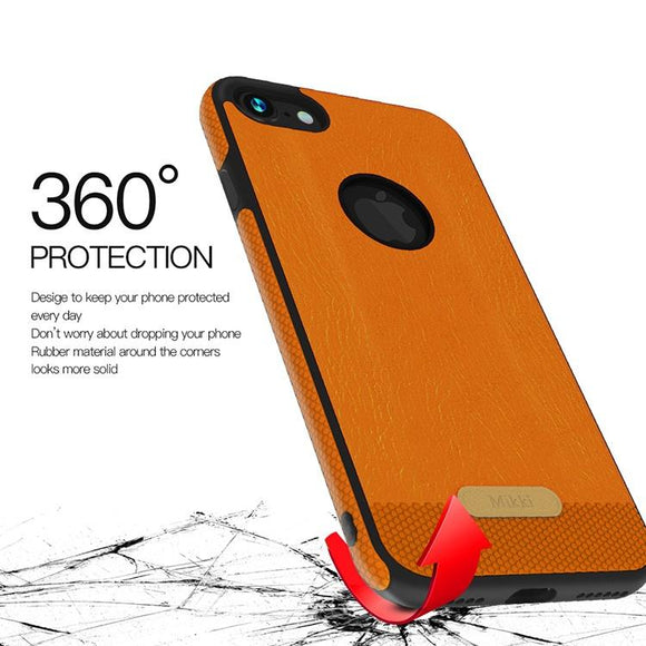 Shockproof Slim Soft TPU PU Leather Back Case For iPhone X / 8 / 8 Plus / 6 / 6s / 6 Plus / 6s Plus / 7 / 7 Plus / Samsung Galax