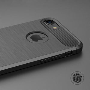 Luxury Shockproof Phone Case For iPhone X 8 8Plus 7 7 Plus 6 6s Plus 5 5s SE Case New Carbon Fiber Soft TPU Drawing Phone Case B