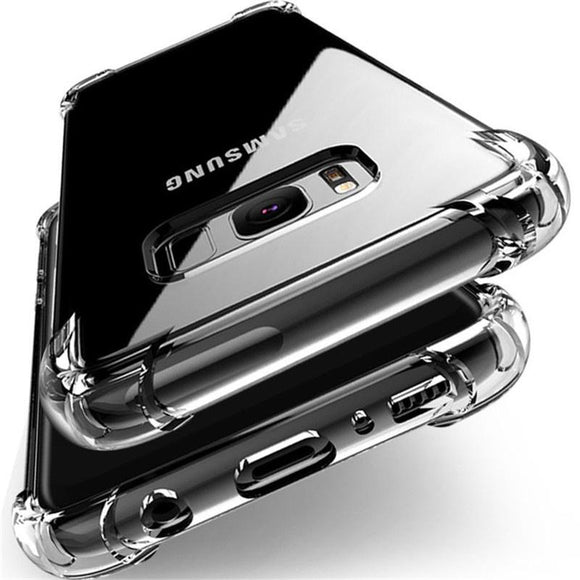 360° Shockproof Soft Silicone Transparent TPU Mobile Care Shell For Samsung Galaxy Note8 S8 S7 S6 A7 A5 A3 J7 J5 iPhone 6s 7 Pl