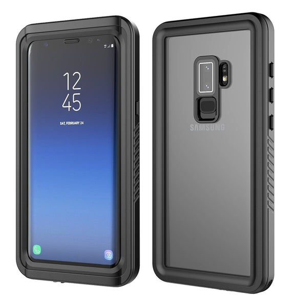 Galaxy S9 Plus Waterproof Case, For Samsung Galaxy S9 Plus Ultra Slim 360 Degree Protection Case Waterproof Dustproof Shockproof Anti Scratch Full Body Protection Bumper Shell (Black)