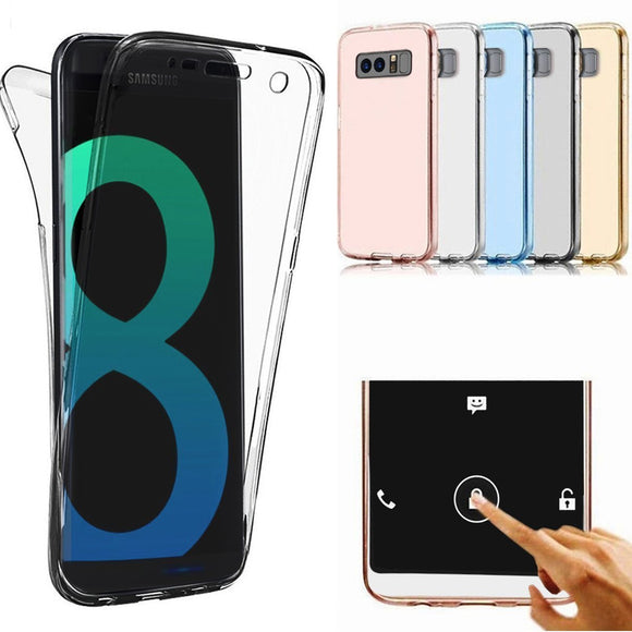Samsung Galaxy Note 8 Case, AMASELL Full Coverage 360 degree Front and Back Protective Case Shockproof TPU Gel Transparent Clear Cover for Samsung Galaxy Note 8, Transparent