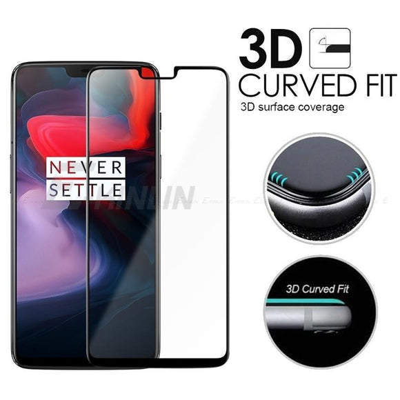 Full Cover Tempered Glass Screen Protector for OnePlus 6 / 5T / 5 / 3T / 3 Protective Screen Flim Protection Full Coverage