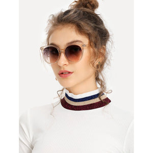 Mirror Lens Cat Eye Sunglasses
