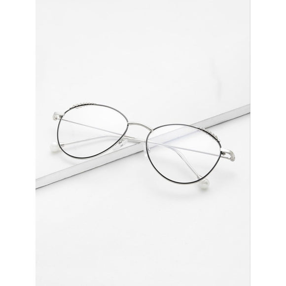 Symmetrical Flat Clear Lens Glasses
