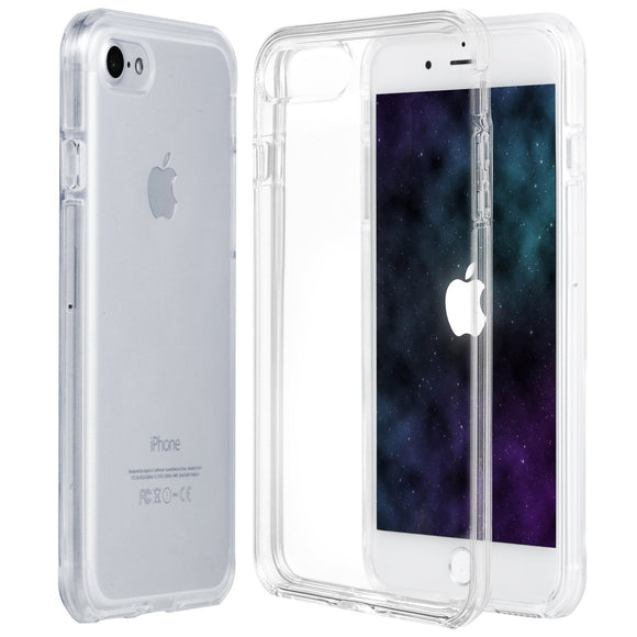 iPhone 8 / iPhone 7 case, ZB [Shock Bumper Series] Scratch Resistant Shock Absorbent Slim Clear Back Soft Flexible TPU Bumper Case Cover for Apple iPhone 8 / iPhone 7 w/ Ring Holder Kickstand [Clear]