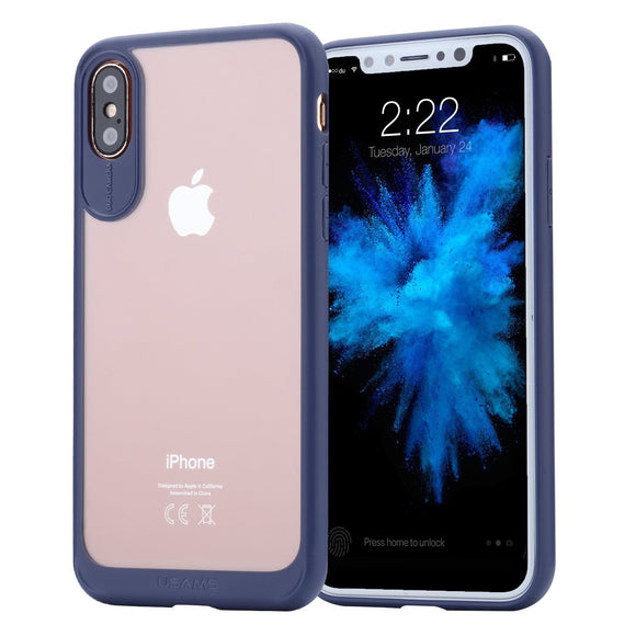 iPhone X Case, Hi-Luck Universal Ultra Slim Shock-absorbing Flexible Durability Fit for iPhone X/ iPhone 10 - Blue