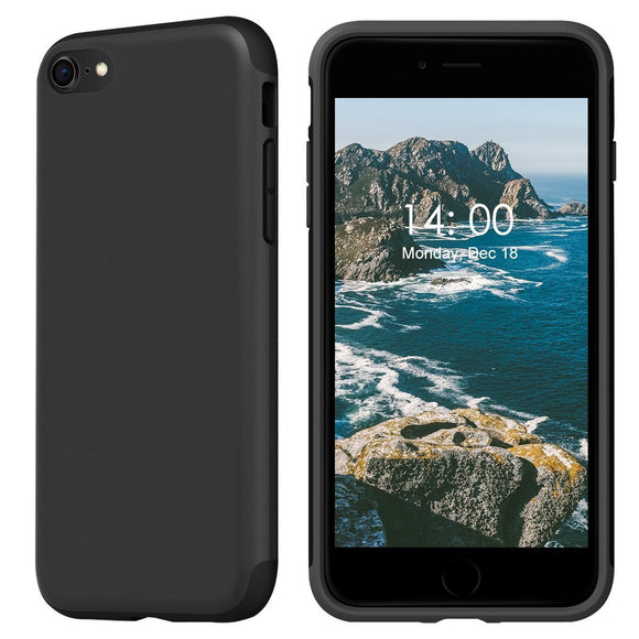 KUUFER Two-Layer Defender Case with Matte Surface Great for Grip for Apple iPhone 7, iPhone 8 (black)