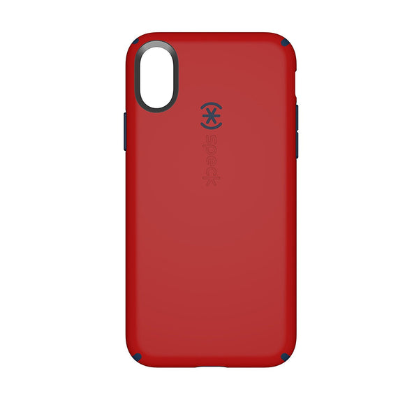 Speck Products CandyShell Cell Phone Case for iPhone X - Dark Poppy Red/Deep Sea Blue