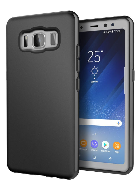 Galaxy S8 Active Case, Cimo [Matte] Premium Slim Protective Cover for Samsung Galaxy S8 Active - Black