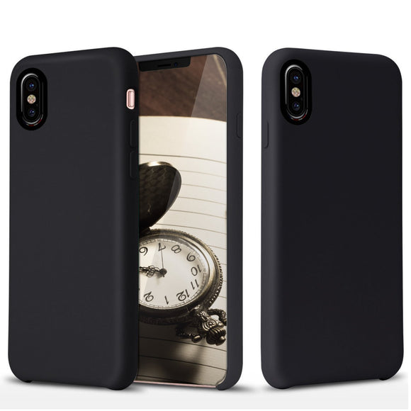 iPhone X Case Ultra Thin Slim Perfect Fit [Bareskin] Premium PU Leather Cover with Excellent Grip for Apple iPhone 10 2017 - Black