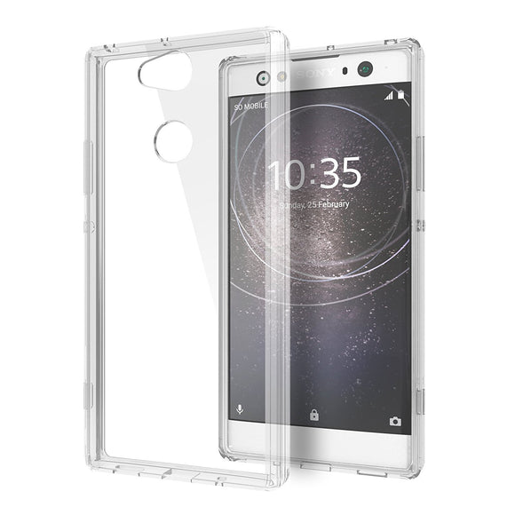 Cimo Crystal Hybrid Sony Xperia XA2 Ultra Case with Premium TPU Bumper and PC Clear Back for Sony Xperia XA2 Ultra (2018) - Clear