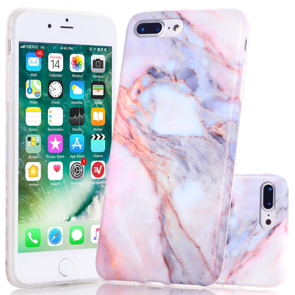 Wastou bnienfee iPhone 7 Plus Case [Marble Stone Pattern Series] Soft TPU Creative Marble Case for iPhone 7 Plus - Stone