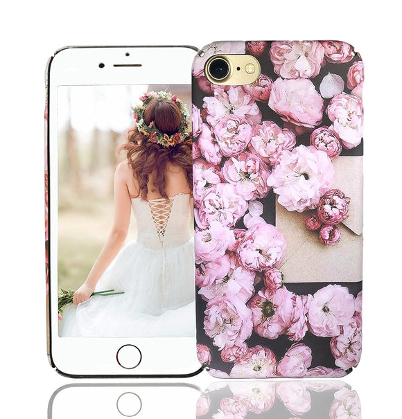 iPhone 8 Case, iPhone 7 Case, Vivafree Girl [Premium Floral Series] Flower Design with TPU Bumper - Slim Fit Silky Soft Flexible Silicone Cover Cellphone Case - Cherry Blossom
