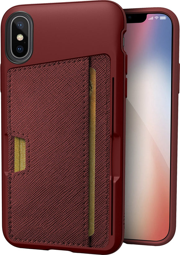 Silk iPhone X Wallet Case - Q CARD CASE [Slim Protective Kickstand CM4 iPhone 10 Grip Cover] -