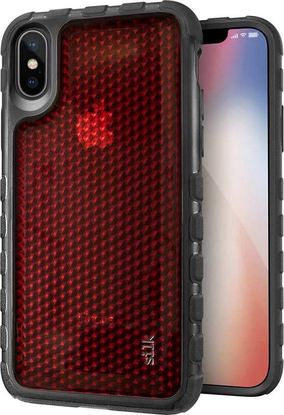 Silk iPhone X Tough Case - SILK ARMOR Protective Rugged iPhone 10 Grip Cover -