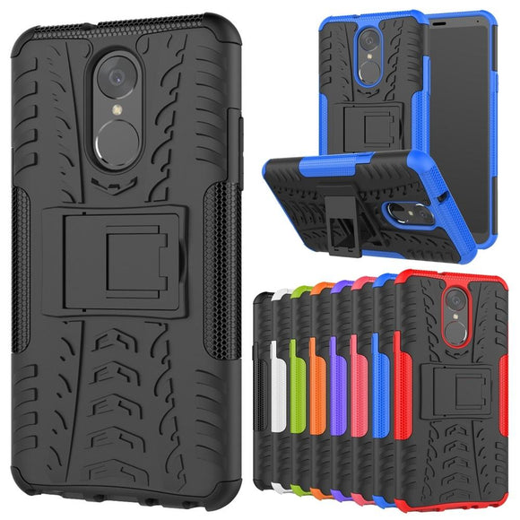 For LG Stylo 4 / LG Q Stylus Phone Case With Kickstand Hybrid Dual Layer Shockproof Rugged Armor Protective Cover