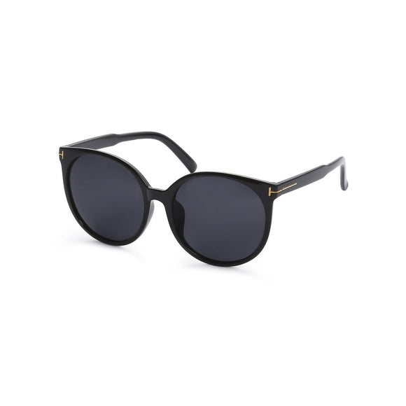 Black Cat Eye Reflective Lenses Sunglasses