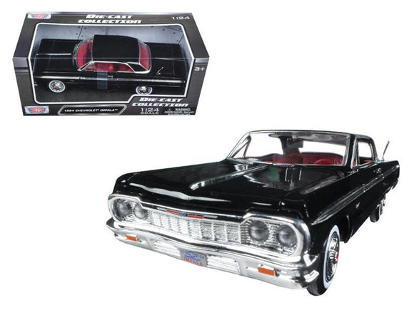 1964 Chevrolet Impala Black 1-24 Diecast Model Car by Motormax