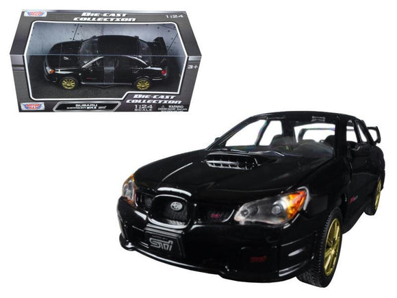 Subaru Impreza WRX STi Black 1-24 Diecast Model Car by Motormax