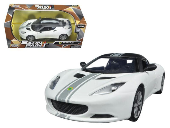 Lotus Evora S Matt White 1-24 Diecast Model Car by Motormax