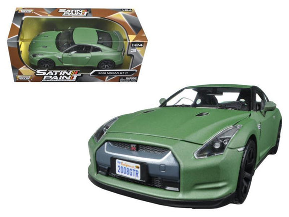 2008 Nissan GT-R R35 Matt Green 1-24 Diecast Model Car by Motormax