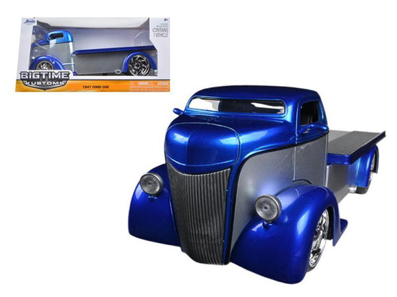 1947 Ford COE Silver - Blue 1-24 Diecast Car Model by Jada