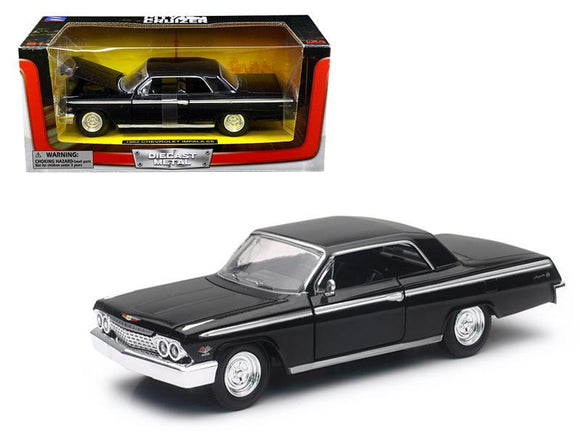 1962 Chevrolet Impala SS Black 1-24 Diecast Model Car by New Ray