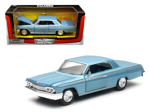 1962 Chevrolet Impala SS Blue 1-24 Diecast Model Car by New Ray