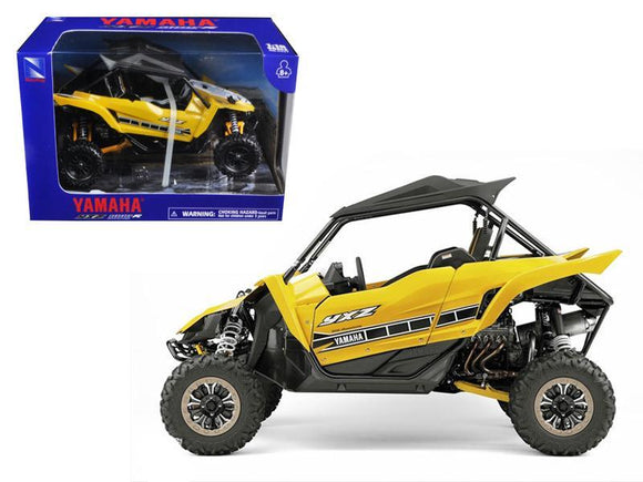 Yamaha YXZ 1000R Triple Cylinder Yellow Buggy 1-18 Diecast Model by New Ray