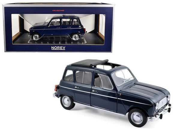 1965 Renault 4 Copenhague Blue 1-18 Diecast Model Car by Norev