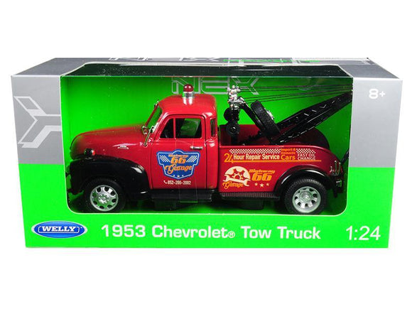 1953 Chevrolet Tow Truck Red 1-24 Diecast Model Car by Welly