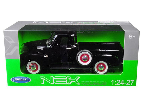 1953 Chevrolet 3100 Pick Up Truck Black 1-24 - 1-27 Diecast Model Car by Welly