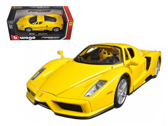 Ferrari Enzo Yellow 1-24 Diecast Model Car by Bburago