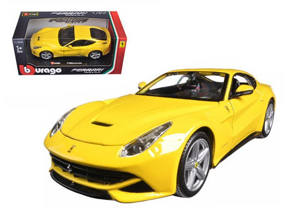 Ferrari F12 Berlinetta Yellow 1-24 Diecast Model Car by Bburago