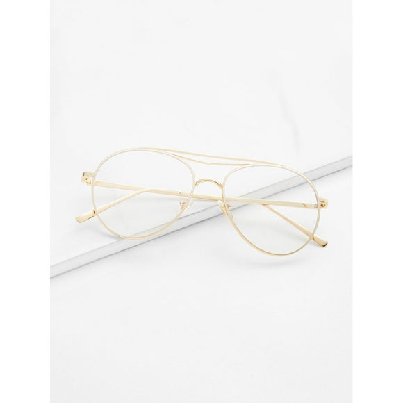 Clear Lens Aviator Glasses