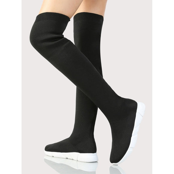 OTK Knitted Boots BLACK