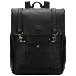 Black Buckle PU Backpacks